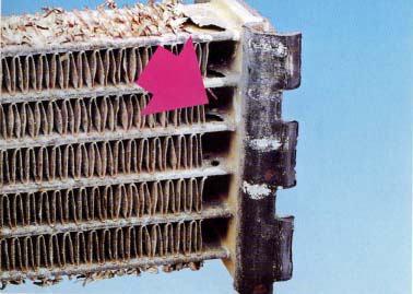 電気分解作用による損傷(チューブ)
